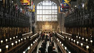 Prince Philip's funeral at St George's chapel in Windsor Castle.