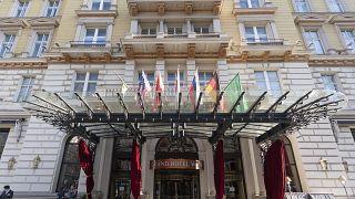 Гостиница в Вене, где проходят переговоры об иранской ядерной программе и санкциях против Тегерана