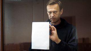 Алексей Навальный на заседании Бабушкинского суда Москвы 16 февраля 2021