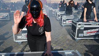 Italia | Protesta de los profesionales del espectáculo