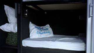 Bus provides beds for homeless people.