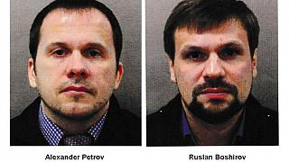 """Alexander Petrov"" and ""Ruslan Boshirov"", since identified as GRU agents Anatoly Chepiga and Alexander Mishkin, are wanted in connection with a blast in the Czech Republic"