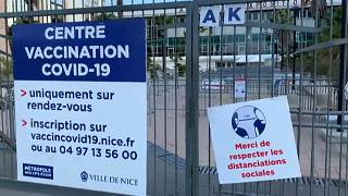 Impfzentrum in Nizza