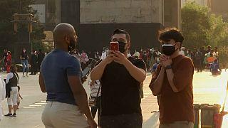 Ciudadanos con móviles en México