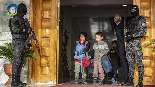 Дети перед репатриацией из Сирии в Россию 18 апреля 2021