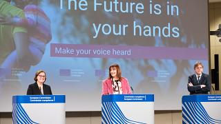 The representatives from the three EU institutions presented the platform on Monday.