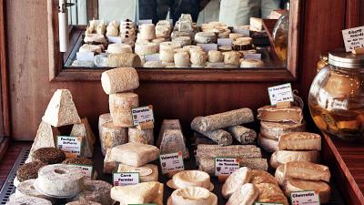 Europe is famous for its cheese