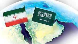 İran (sol) ve Suudi Arabistan bayrakları