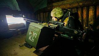 سرباز اوکراینی در منطقه لوهانسک
