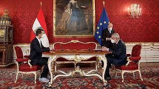 Austrian Health Minister Wolfgang Muckstein was sworn in at a ceremony in Vienna on Monday.