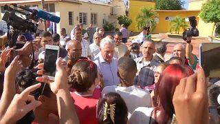 Miguel Díaz-Canel en Caimanera en 2019