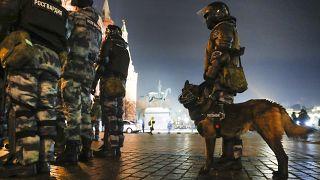 ОМОН на акции протеста в Москве.