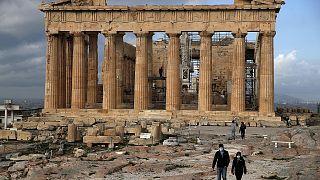 الأكروبوليس القديم في العاصمة اليونانية أثينا.