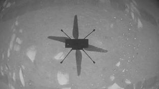 Ingenuity helicopter's first flight on Mars