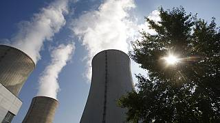 In this photo taken Sept. 27, 2011, some of the cooling towers of the Dukovany nuclear power plant rise high into the sky in Dukovany, Czech Republic