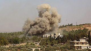Rusya'nın İdlib'e yaptığı hava saldırısı (Arşiv)