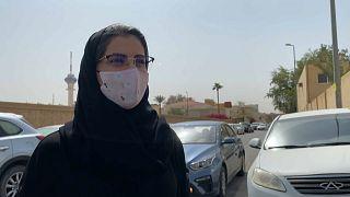 La activista saudí Loujain Alhathloul fue impulsora del derecho a las mujeres de conducir en Arabia Saudí.