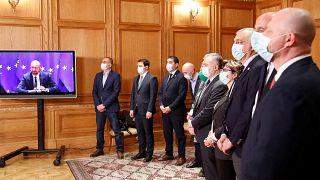 Подписание соглашения в выходе из политического кризиса в Грузии