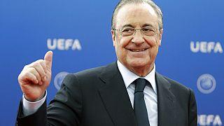 Real Madrid Başkanı Florentino Perez, UEFA'yı tekelcilik yapmakla suçladı.