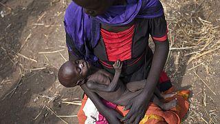 Güney Sudan'da bir anne