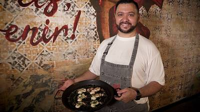 Chef Daniel Delgado - Black Ink Paella