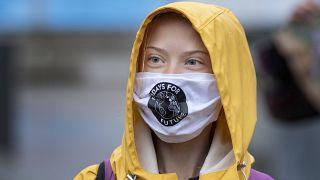 الناشطة السويدية غريتا ثونبرغ - ستوكهولم 10/2020
