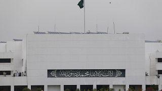 مبنى البرلمان في إسلام أباد - باكستان.