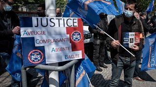 Manifestations de policiers partout en France, ici à Lyon, le 20 avril 2021