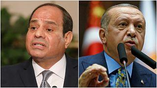 الرئيس التركي رجب طيب أردوغان والرئيس المصري عبد الفتاح السيسي