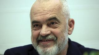 Albanian Prime Minister Edi Rama, speaks during an interview with the Associated Press, in Tirana, Albania, on Tuesday, April 20, 2021.