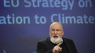 European Commissioner for European Green Deal Frans Timmermans at EU headquarters in Brussels on Feb. 24, 2021.