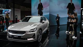A Polestar 2 car seen during the 19th Shanghai International Automobile Industry Exhibition