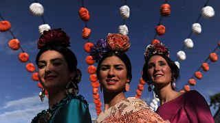 Teilnehmerinnen der Feria de Abril (Aufnahme aus dem Jahr 2015)