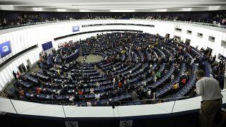 من مقر البرلمان الأوروبي في ستراسبورغ الفرنسية