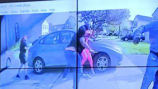 A rendőrségi sajtótájékoztatón bemutatott felvétel kockája