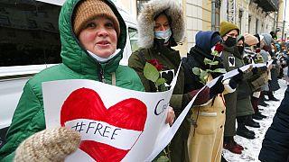 Demonstráció Navalnij szabadságáért 2021 februárjában (illusztráció)