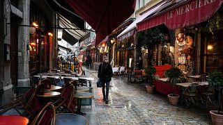 Archive - Une rue de Lyon en France et ses restaurants, le 2 octobre 2020