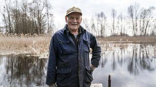 Yevgeny Markevich, dans la zone d'exclusion de Tchernobyl, le 25 avril 2021