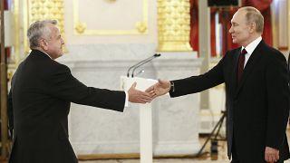 Посол США в России Джон Салливан и Владимир Путин на вручении верительных грамот в Кремле, февраль 2021 года