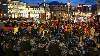Moscow had stepped up security efforts in anticipation of rallies on Wednesday.