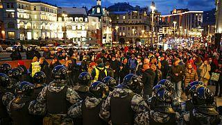Cientos de manifestantes pro-Navalni en Moscú