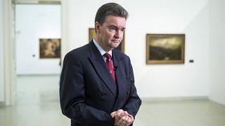 Habsburg György Az első aranykor - Az Osztrák-Magyar Monarchia festészete és a Műcsarnok című kiállításon tartott tárlatvezetésen