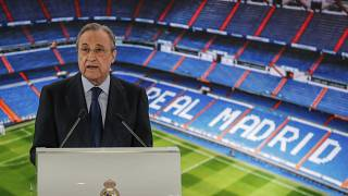 "Florentino Perez said the new league is on ""standby"" rather than finished"