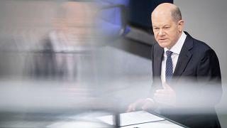 Finanzminister Scholz bei einer Bundestagsdebatte