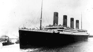 Le Titanic, à son départ de Southampton, en Angleterre, le 10 avril 1912