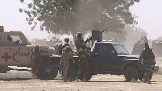 Soldats tchadiens déployés à N'Djamena le 20/04/2021, après l'annonce de la mort du président Idriss Déby - capture d'écran d'une vidéo AFP.