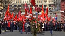 Russian Communists celebrate Lenin's 151st birthday