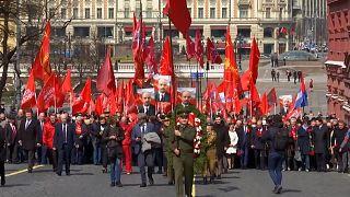 Russie : des communistes rendent hommage à Lénine à Moscou
