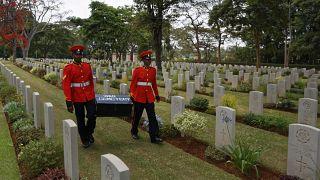Офицеры военной полиции Кении чтут память соотечественников, погибших в Первую мировую, ноябрь 2016 г.