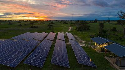 Xigera Safari Lodge in Botswana's Moremi Game Reserve uses solar energy to power its 12 suites
